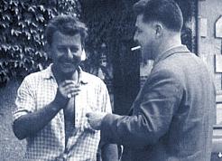 Jean Bernigaud à gauche de la photo avec C.Adoin son associé.